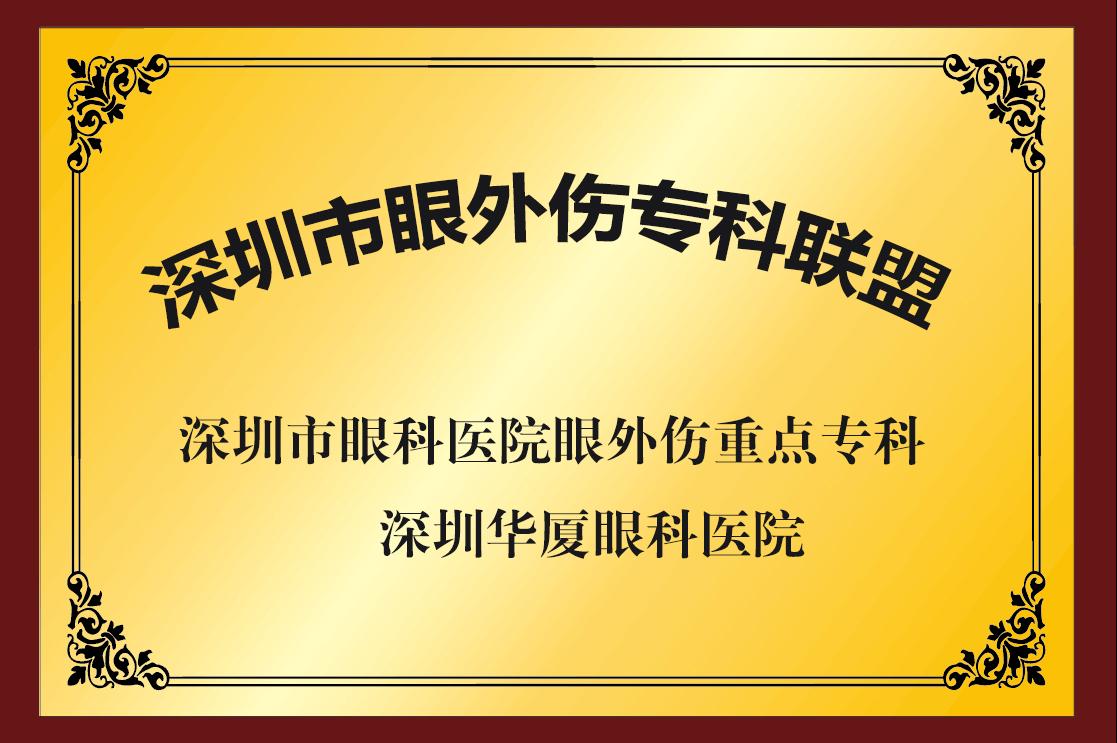 深圳市眼外伤专科联盟